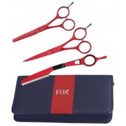 FOX Color zestaw - nożyczki, degażówki, nóż