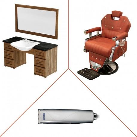 Zestaw PANDA konsoleta ROYAL z fotelem OLIVIER oraz zestaw maszynek ANDIS w prezencie
