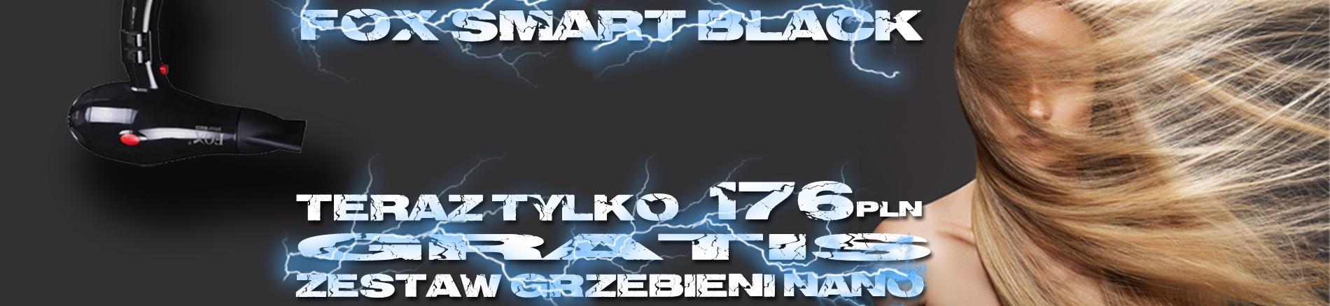 FOX suszarka SMART BLACK + zestaw grzebieni NANO