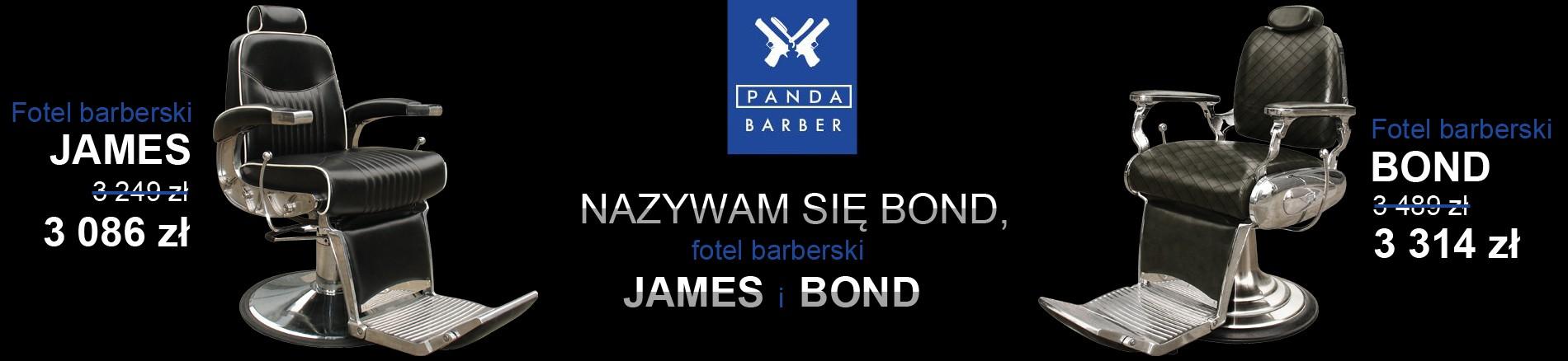 Fotele barberskie James i Bond