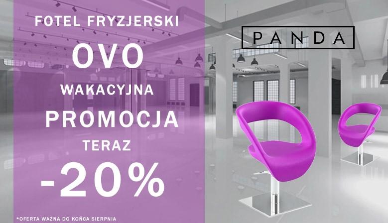 Fotel fryzjerski Panda OVO Promocja