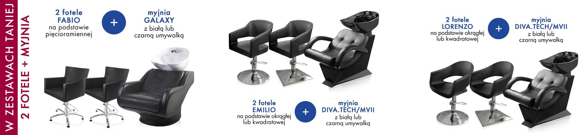W zestawach taniej 2 x fotel + myjnia